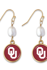 FTH FTH OU Diana Pearl Gold Earrings