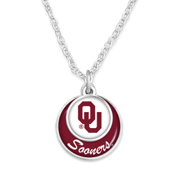 FTH FTH OU Sooners Stacked Disc Necklace