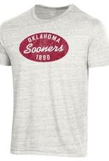 Champion Men's Champion White Tri-Blend Oklahoma Sooners Oval Tee