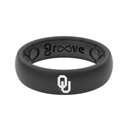 Groove Thin Black Oklahoma Silicone Groove Ring