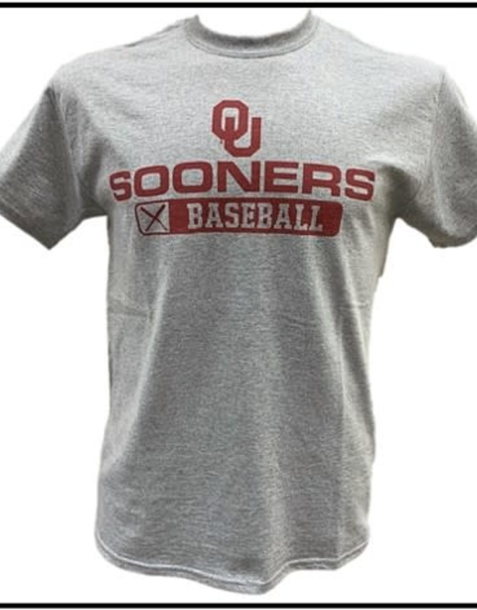 Gildan Basic Cotton Tee Oklahoma Baseball Athletic Grey