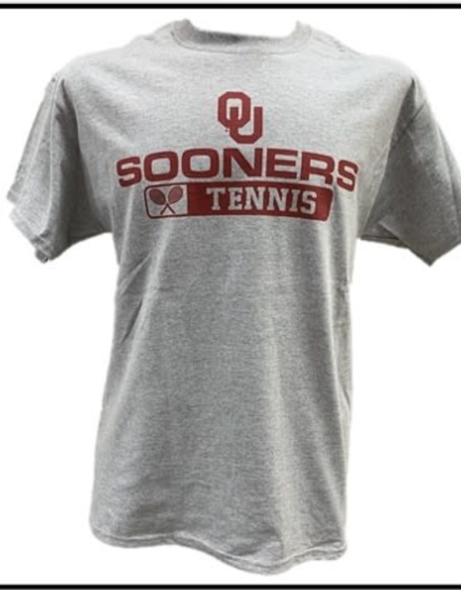 Gildan Basic Cotton Tee Oklahoma Tennis Athletic Grey
