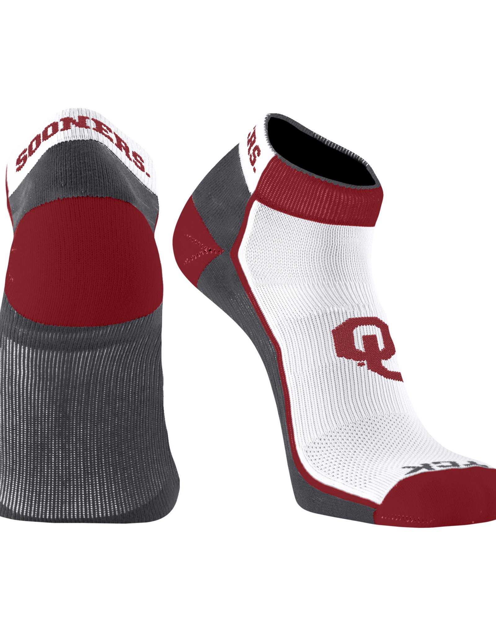 TCK Men's OU  Sooners Low-Cut Performance Sock