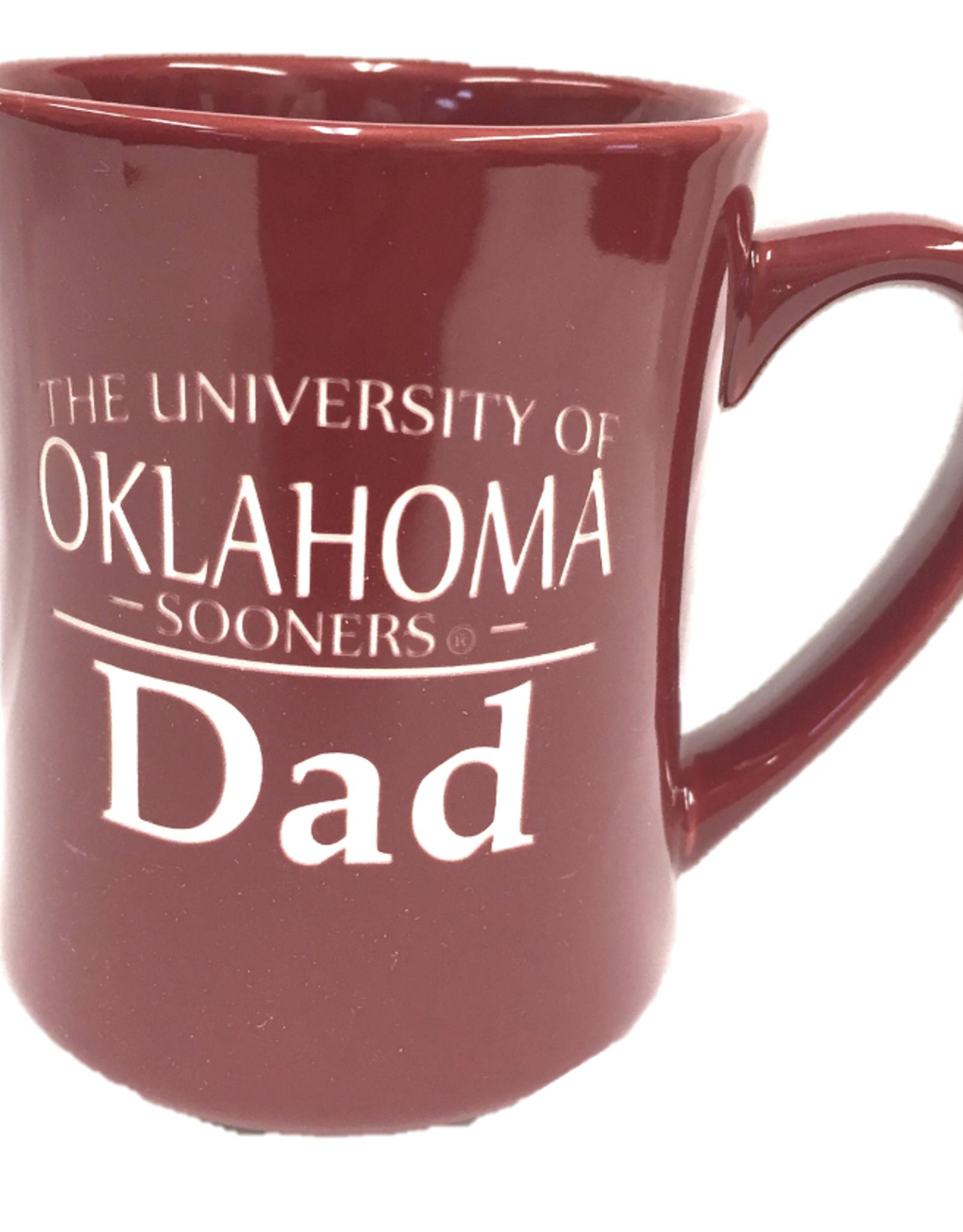 RFSJ 16oz Ceramic Etched Oklahoma Sooners Dad Mug