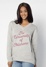 UGApparel Women's UG Apparel Oklahoma Gray Ivy League Pullover