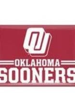 WinCraft Slant OU Oklahoma Sooners Magnet