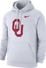 Nike Men's Nike White OU Pullover Club Fleece Hoodie