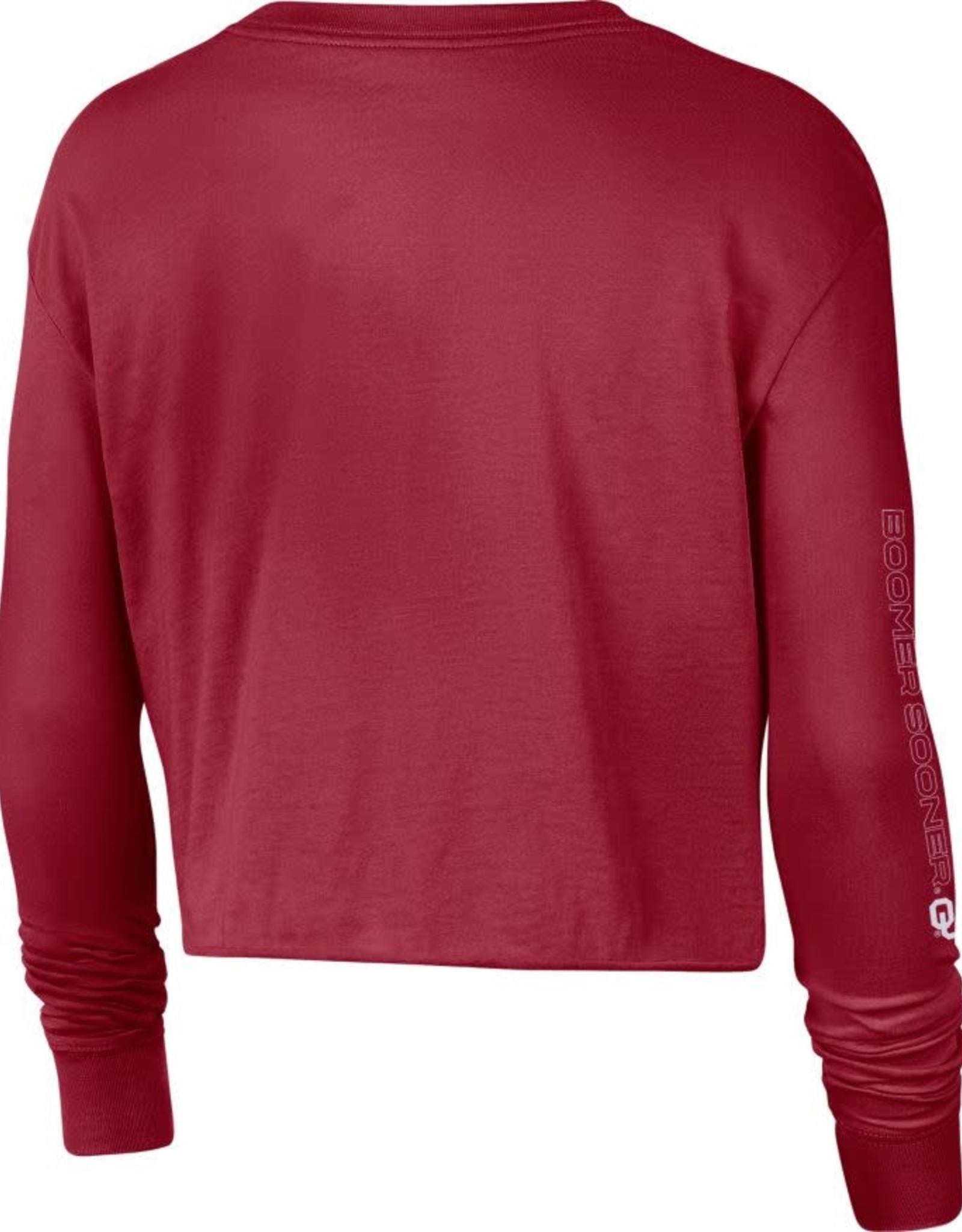Nike Women's Nike Crimson OU Long-sleeve Crop Sweatshirt