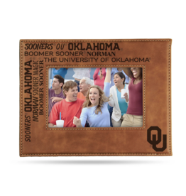 Rico Oklahoma Sooner Leather Pictuer Frame