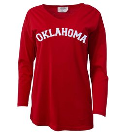 Emerson Street Women's Oklahoma Crimson Meadow Long-Sleeve Tunic