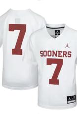 Jordan Youth Jordan Brand #7 Sooners Football Jersey White