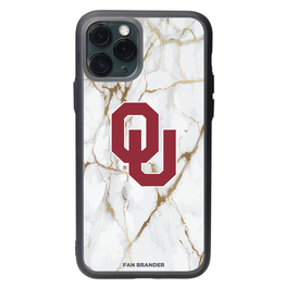 Fan Brander iPhone 12 Pro Max OU White Marble Slate Case