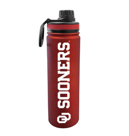 The Fanatic Group OU Sooners 24oz Stainless Sports Bottle w/ Screw on Lid