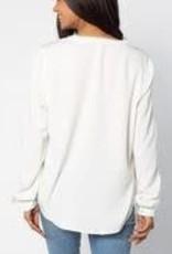 UGApparel Women's OU Split Neck Tunic White