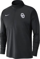 Nike Men's Nike OU Black 1/4 Zip Pacer