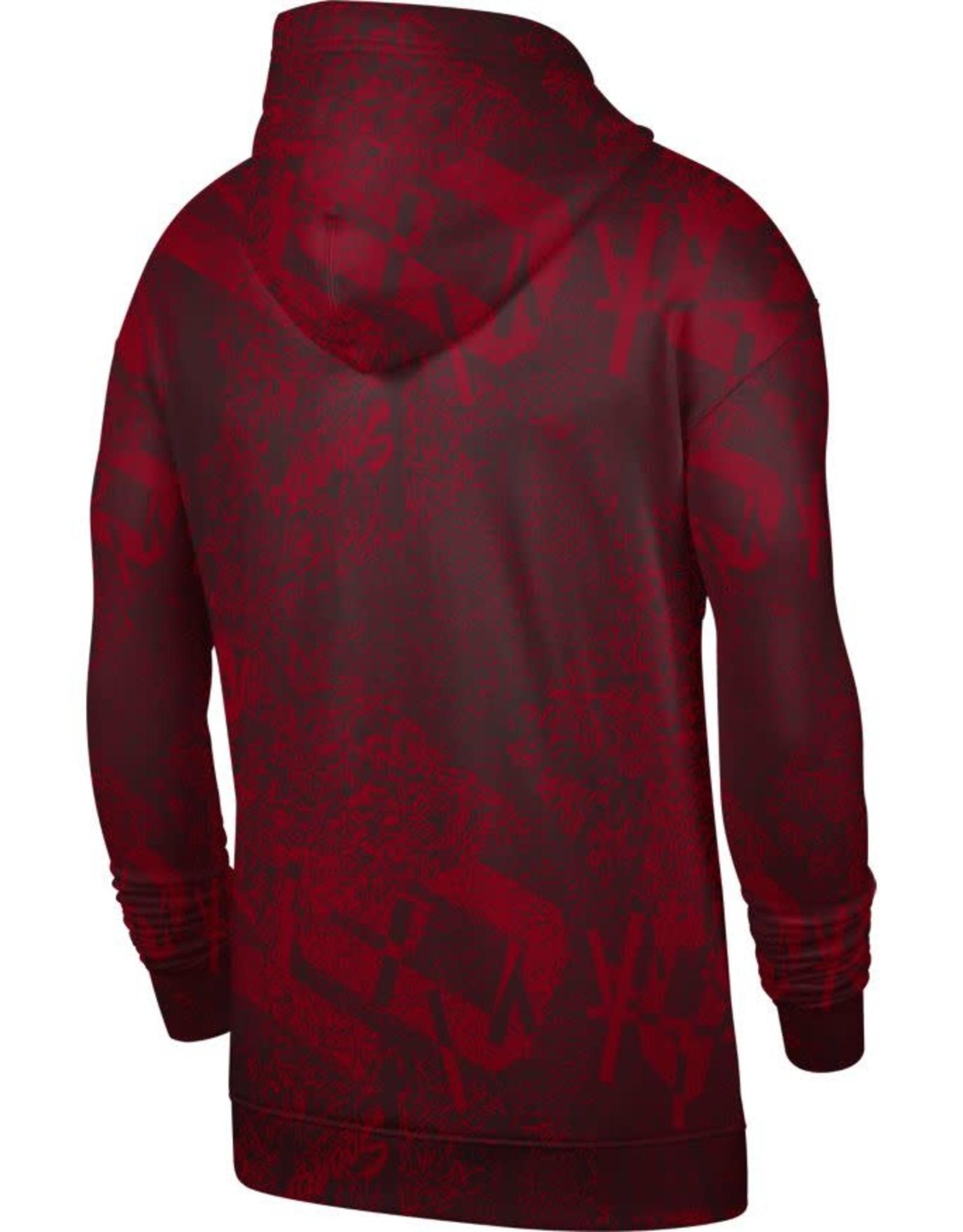 Jordan Men's Jordan OU Crimson All-Over Print Travel Fleece Pull-over Hoodie