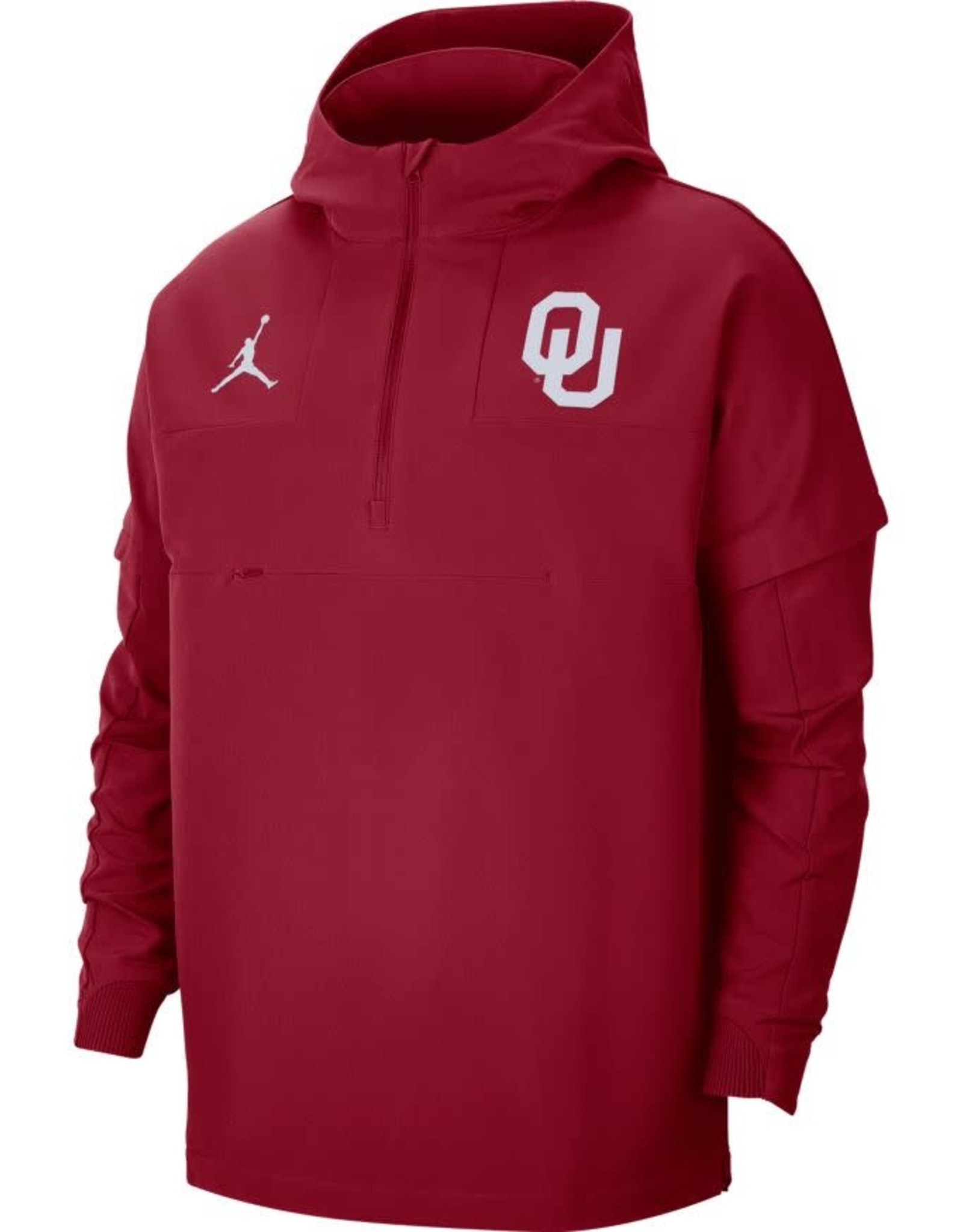Jordan Men's Jordan OU Crimson Pregame 1/2 Zip Jacket