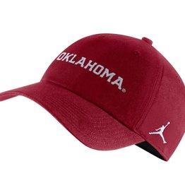 Jordan Men's Jordan H86 Crimson Oklahoma Wordmark Adjustable Cap