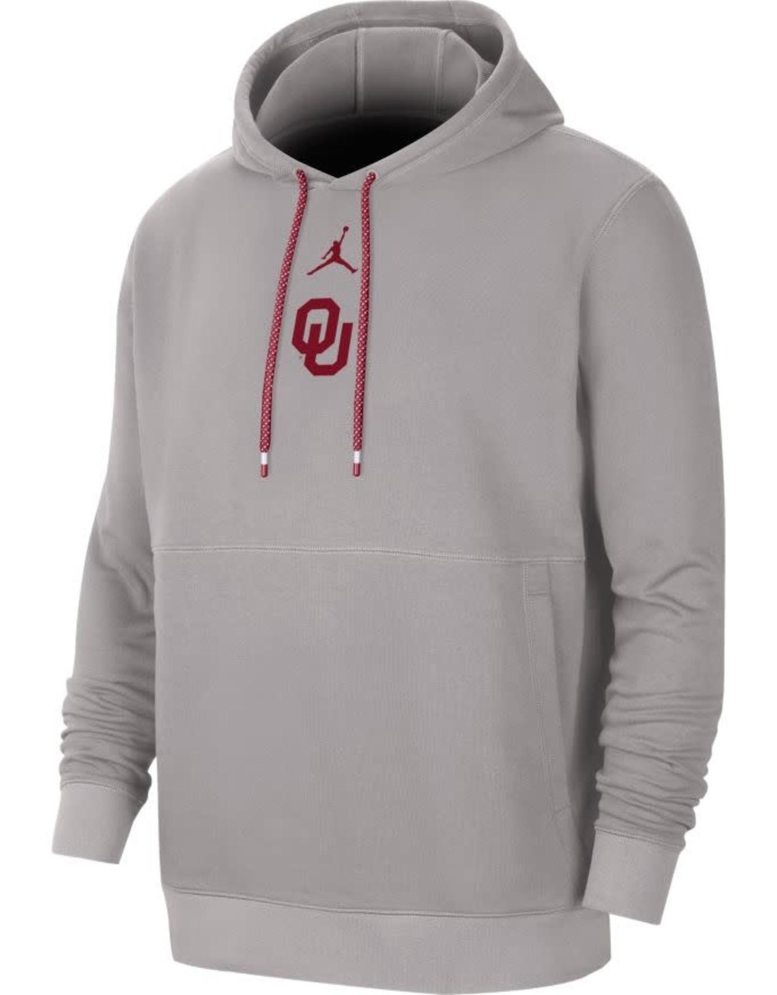 Jordan Men's Jordan OU Gray Fleece Practice Hoodie