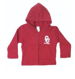 Little King Toddler Little King OU Full Zip Quilted Jacket