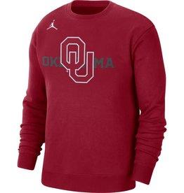 Jordan Men's Jordan OU Oklahoma Crimson Fleece Crew