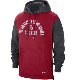 Nike Men's Nike The University of Oklahoma OU Sooners Color Block Fan Hoodie