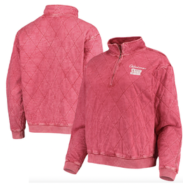 Gameday Couture Gameday Couture  Chic Quilted Mineral Wash 1/4 Zip