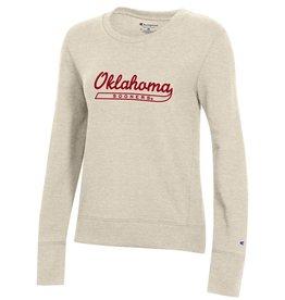 Champion Women's Oklahoma Sooners Tail Crewneck Oatmeal