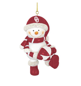 Hanna's Handiworks OU Resin Snowman w/ Ball Ornament