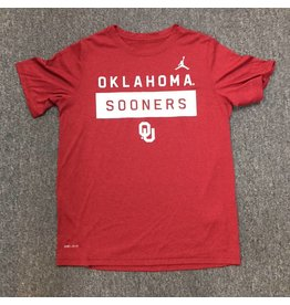 Jordan Youth Oklahoma Sooners OU Jordan Legend SS Tee Crimson