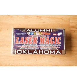 Laser Magic Alumni/Oklahoma Mirrored Silver/Crimson License Frame