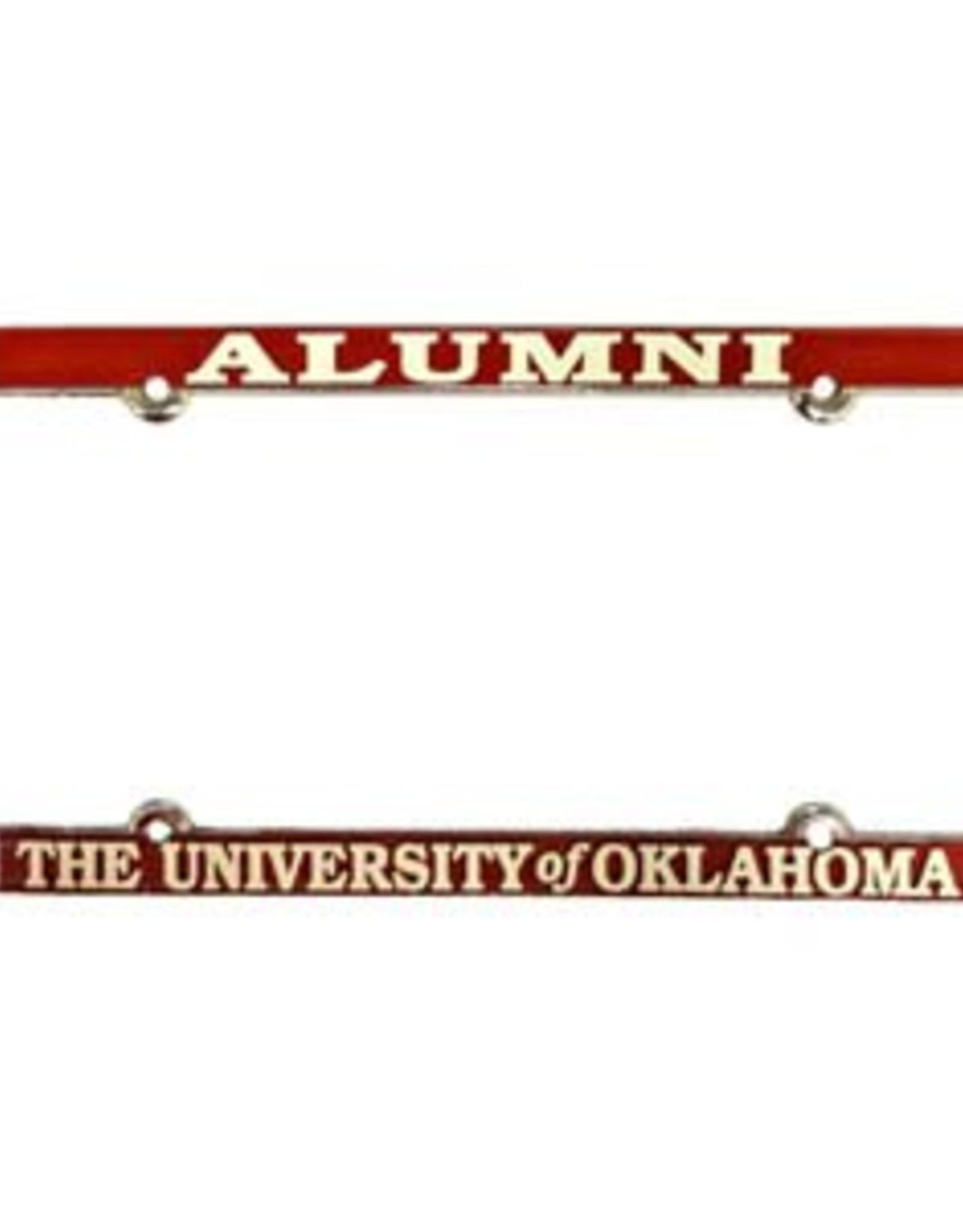 Jag Alumni/The University of Oklahoma Raised Letters White/Crimson License Frame