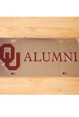 Craftique Craftique OU Alumni Crimson/Silver Mirrored License Plate