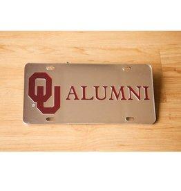Craftique Craftique OU Alumni Crimson/Silver Mirrored License Plate