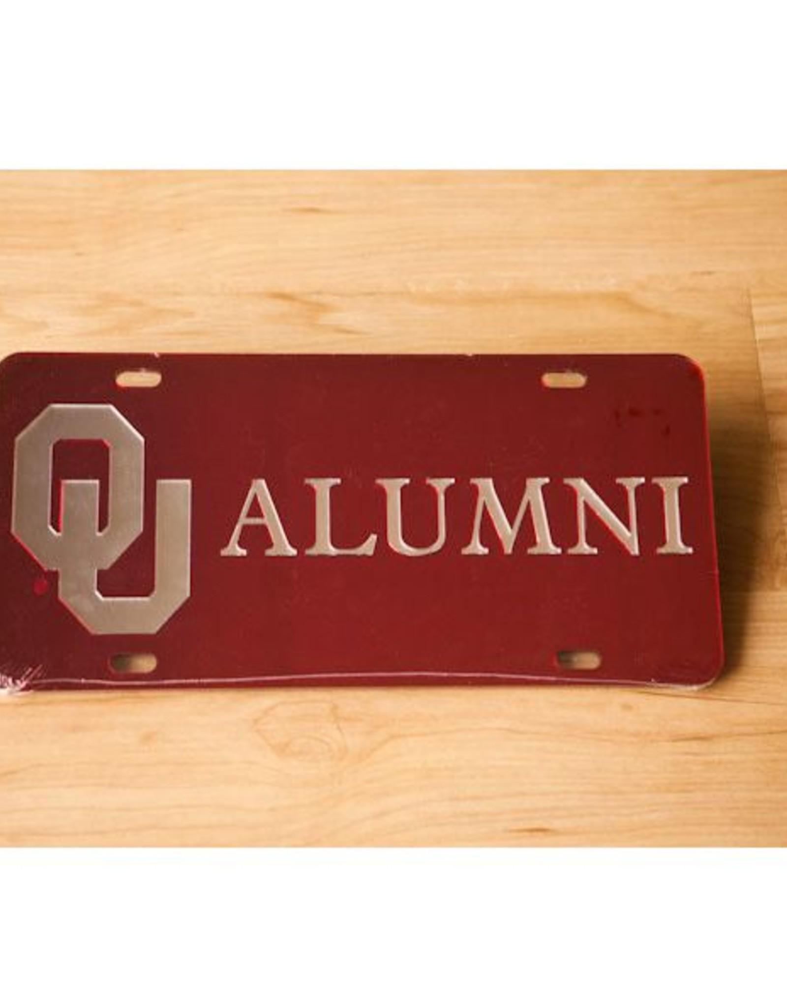 Craftique Craftique OU Alumni Silver/Crimson Mirrored License Plate