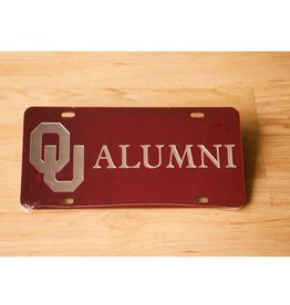 Craftique Craftique OU Alumni Silver/Crimson Mirrored License Plate