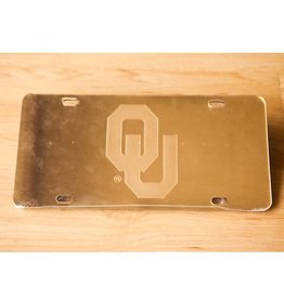 Craftique Craftique OU Gold Mirrored License Plate