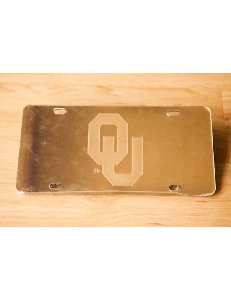 Craftique Craftique OU Gold Mirrored License Plate