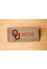 Craftique Craftique OU Mom Crimson/Silver Mirrored License Plate