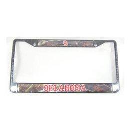 Craftique Craftique OU/Oklahoma Camo/Black License Frame