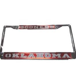 Craftique Craftique Sooners/Oklahoma White/Crimson License Frame