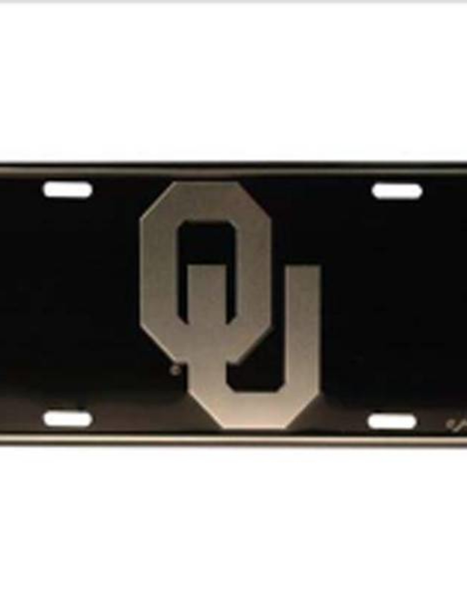 Jenkins OU Silver/Black Tin License Plate