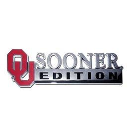 Elektroplate OU Sooner Edition Auto Emblem