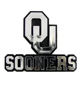 Team ProMark OU Sooners Plastic with Chrome Finish Auto Emblem