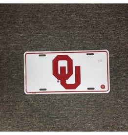 Jag OU Tin License Plate Crimson/White