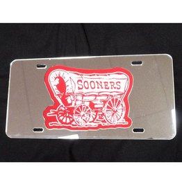 WinCraft Schooner White/Crimson/Silver Mirrored License Plate