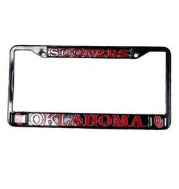Strand Sooners/OU's/Oklahoma Crimson/Black License Frame