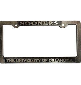 Strand Sooners/The University Of Oklahoma Pewter License Frame