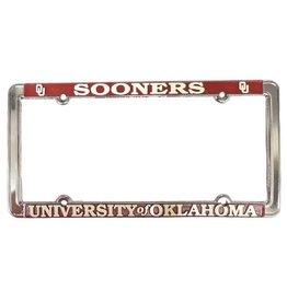 Jag Sooners/The University of Oklahoma Raised Letters White/Crimson License Frame