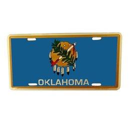 Jag State Flag Tin License Plate